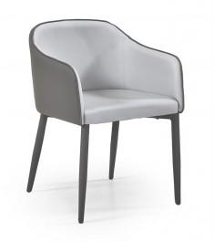 Krzesło na metalowych nogach obitych ekoskórą Shift