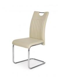 Krzesło na płozach tapicerowane ekoskórą K258