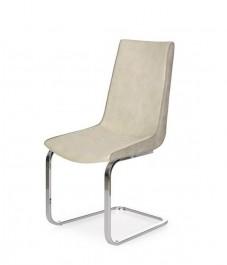 Nowoczesne krzesło na płozach tapicerowane ekoskórą K232