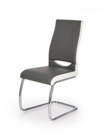 Tapicerowane krzesło na chromowanych płozach K259