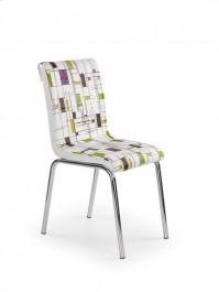 Wielobarwne krzesło na chromowanych nogach K260