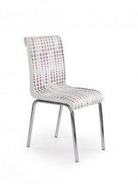 Tapicerowane krzesło z kolorowym motywem K261