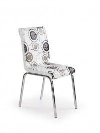 Krzesło tapicerowane z kolorowym wzorem K262