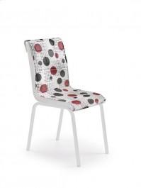 Tapicerowane krzesło z kolorowym siedziskiem i oparciem K263