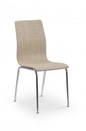 Beżowe krzesło na chromowanych nogach K235