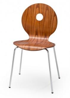 Krzesło wykonane ze sklejki giętej i okleiny naturalnej K233