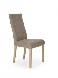 Tapicerowane krzesło na drewnianych nogach w kolorze dąb sonoma Diego