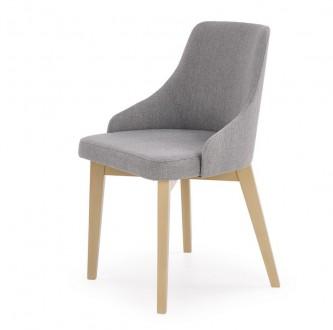 Wygodne krzesło na drewnianych nogach w kolorze dąb sonoma Toledo