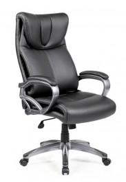 Czarny fotel z ekoskóry Quattro
