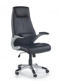 Czarny fotel gabinetowy Ronny