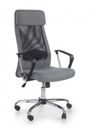 Tapicerowany fotel biurowy z oparciem z siatki Zoom