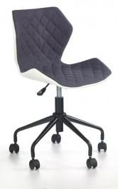 Pikowane krzesło biurowe z białym tyłem Matrix