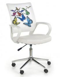 Krzesło obrotowe z kolorowymi motylami Ibis butterfly