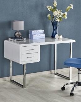 Białe biurko z szufladami B-30