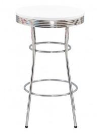 Biały stół barowy z okrągłym blatem SB-12