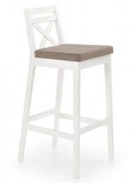Wysokie krzesło barowe białe Borys
