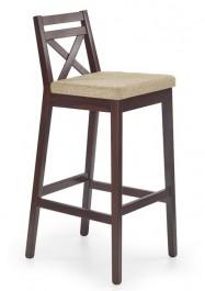 Wysokie krzesło barowe w kolorze ciemny orzech Borys