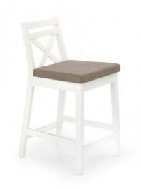 Niskie krzesło barowe białe Borys Low