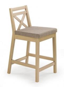 Niskie krzesło barowe w kolorze dąb sonoma Borys Low