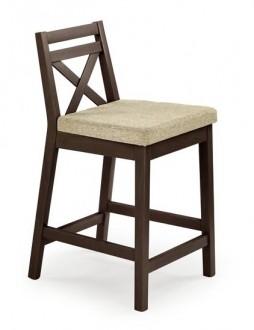 Niskie krzesło barowe w kolorze ciemny orzech Borys Low