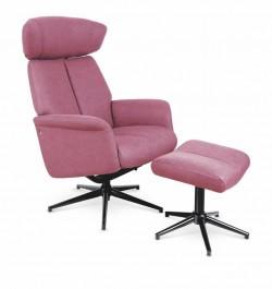 Rozkładany fotel z podnóżkiem w kolorze ciemno różowym Vivaldi