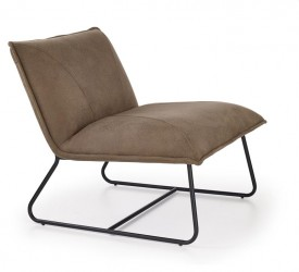 Fotel pokojowy tapicerowany ekoskórą Link