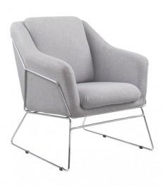 Fotel z poduchą na chromowanych płozach Soft