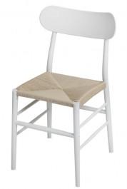 Krzesło z plecionym siedziskiem Teo