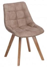 Tapicerowane krzesło na drewnianych nogach Woody