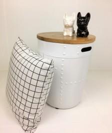 Stolik biały w stylu skandynawskim Drum