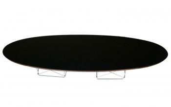 Designerski stolik czarny Elipsa