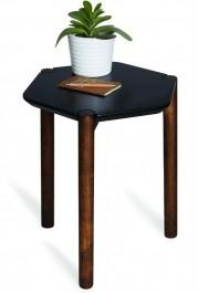 Stolik na drewnianych nogach Lexy