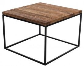 Stolik z dębowym blatem Cube 60x60