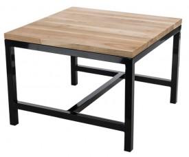Stolik z drewnianym blatem Industry 60x60