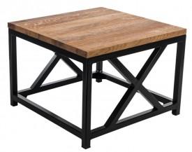 Nowoczesny stolik z drewnianym blatem Loft 60x60