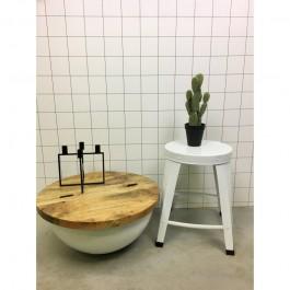 Metalowy stołek Komo