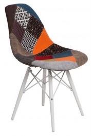 Krzesło P016W black/white Patchwork