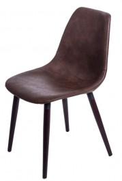 Krzesło tapicerowane ekoskórą Vincent W