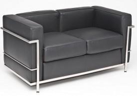 Skórzana sofa dwuosobowa Kubik insp. LC2