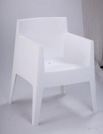 Białe krzesło z polipropylenu Kubik Box