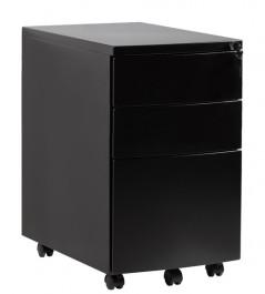 Czarny kontener pod biurko RPH-01B-B