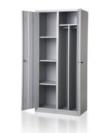 Metalowa szafa ubraniowa z półkami BHP800/2UP