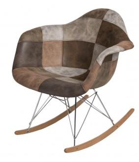 Krzesło P018 insp. RAR Patchwork beżowo/brązowy