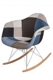 Krzesło P018 insp. RAR Patchwork niebiesko/szary