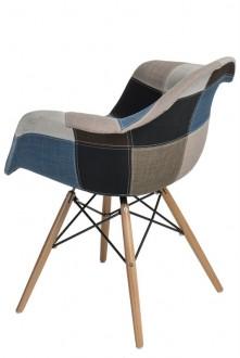 Krzesło P018W insp. DAW Patchwork niebiesko/szary