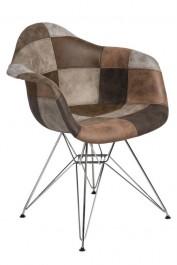Krzesło P018 insp. DAR Patchwork beżowo/brązowy