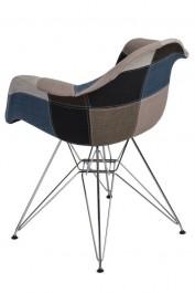 Krzesło P018 insp. DAR Patchwork niebiesko/szary