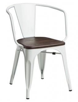 Krzesło Paris Arms Wood sosna szczotkowana orzech insp. Tolix