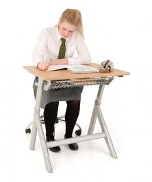 Szkolne biurko pojedyncze z regulacją wysokości T50