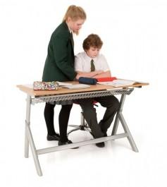 Szkolne biurko podwójne z regulacją wysokości T55
